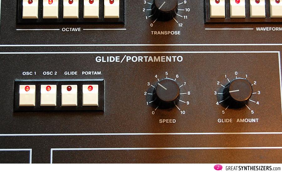 Quell bombastischer Klänge: Die flexible Glide-/Portamento-Ecke