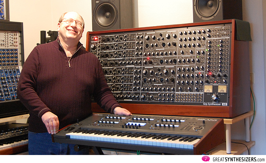 A happy John Bowen with his Solaris synthesizer