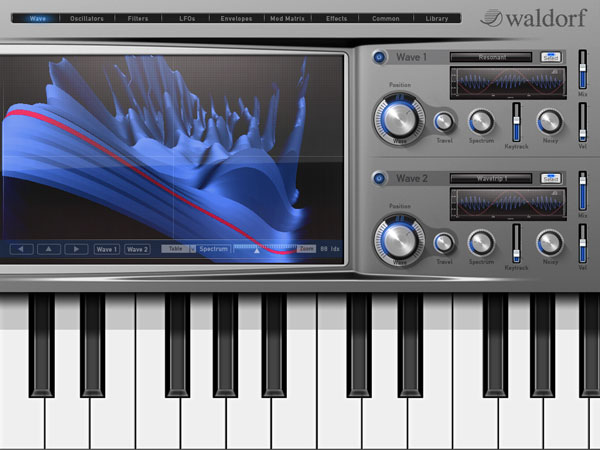 Waldorf iPad-Synthesizer