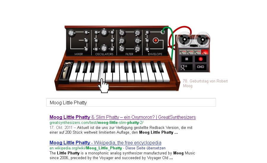 Google Minimoog 23.05.2012