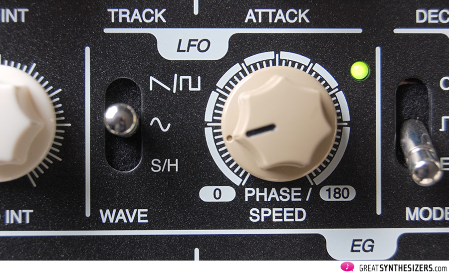 In LFO sync mode the speed knob acts as phase knob.