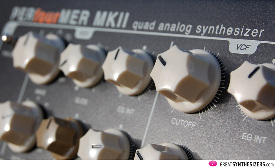A discrete quad analog synthesizer made in Germany ...