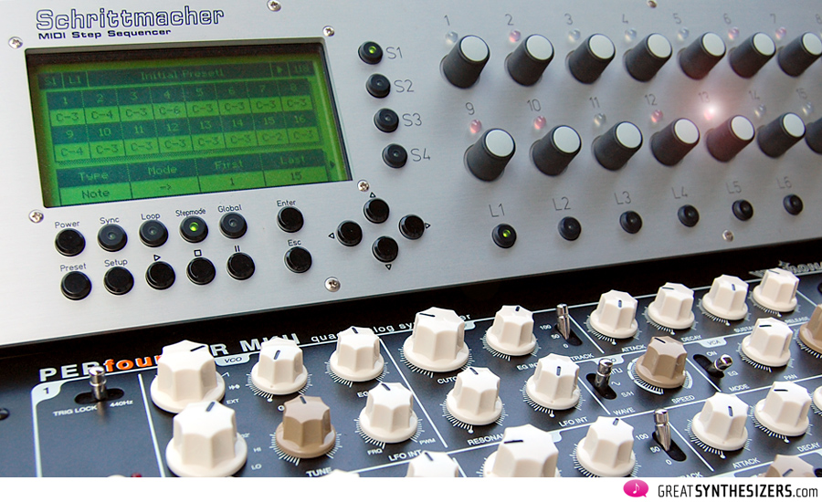 The PERfourMER is an unbelievable creative tool - especially in combination with a powerful MIDI step sequencer.