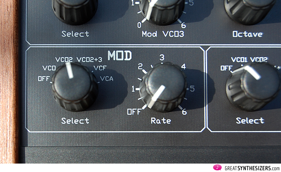 The dedicated Mod LFO (3rd LFO)