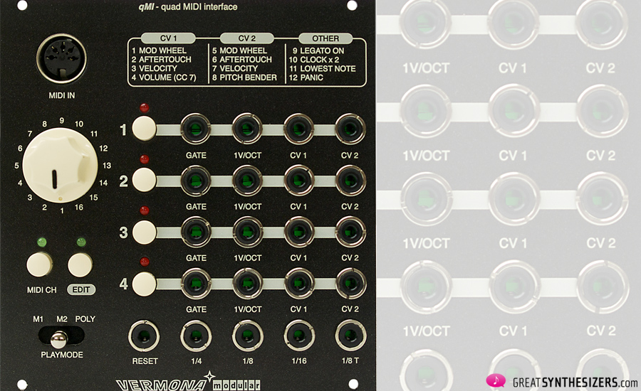 Vermona modular qMI - Quad MIDI Interface