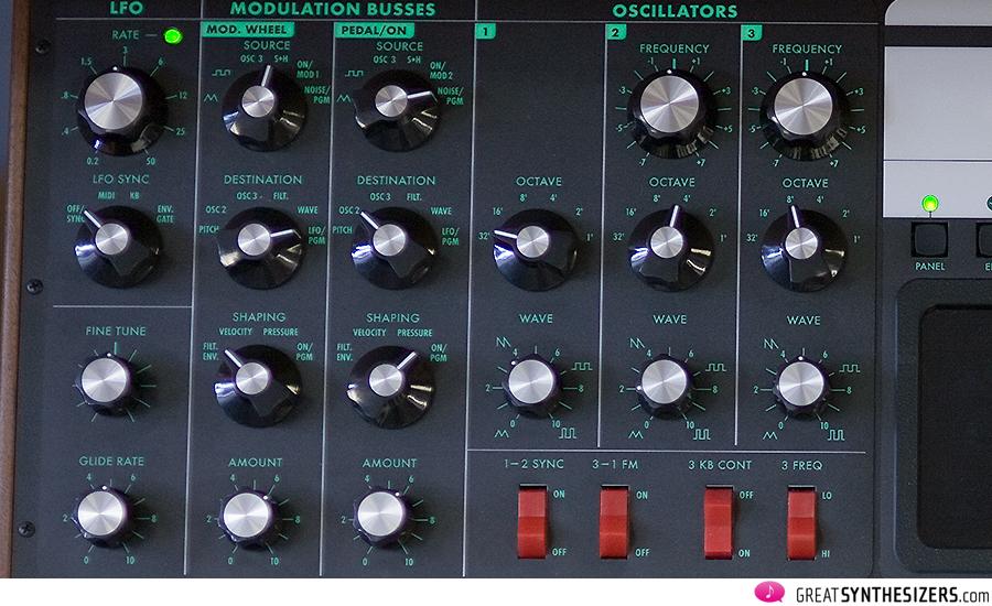 Moog Voyager LFO Modulation