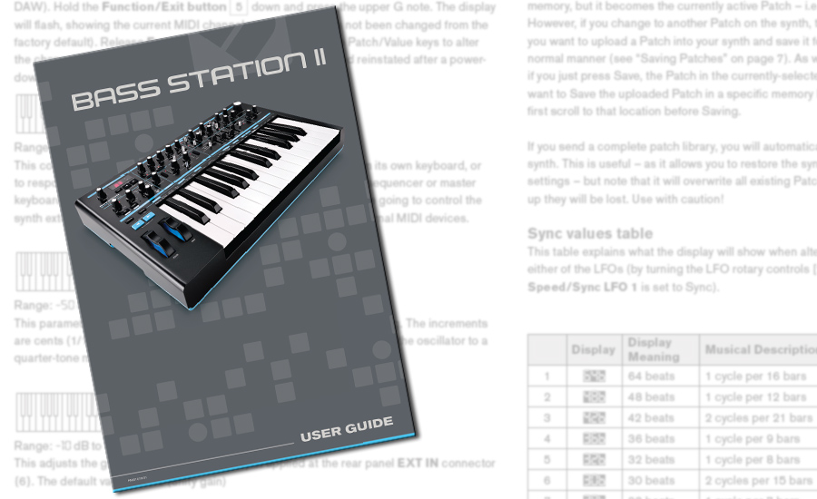 Novation-BassStationII-Manual