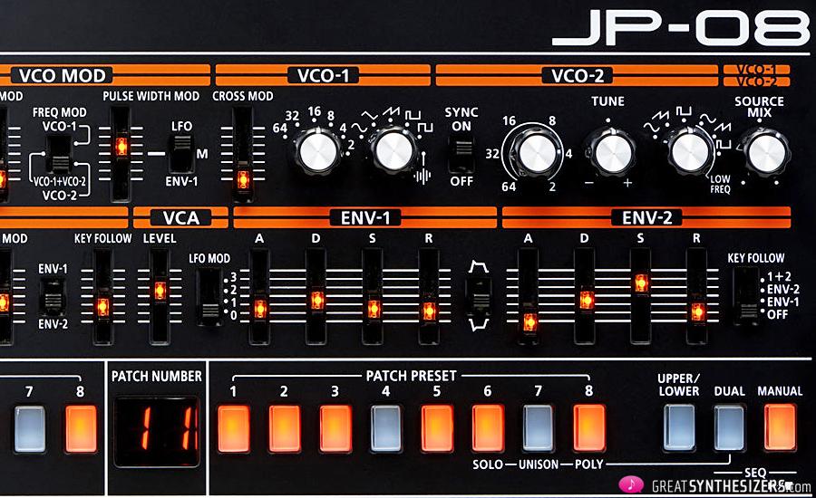 Roland JP-08 – the pocket-sized Jupiter – GreatSynthesizers