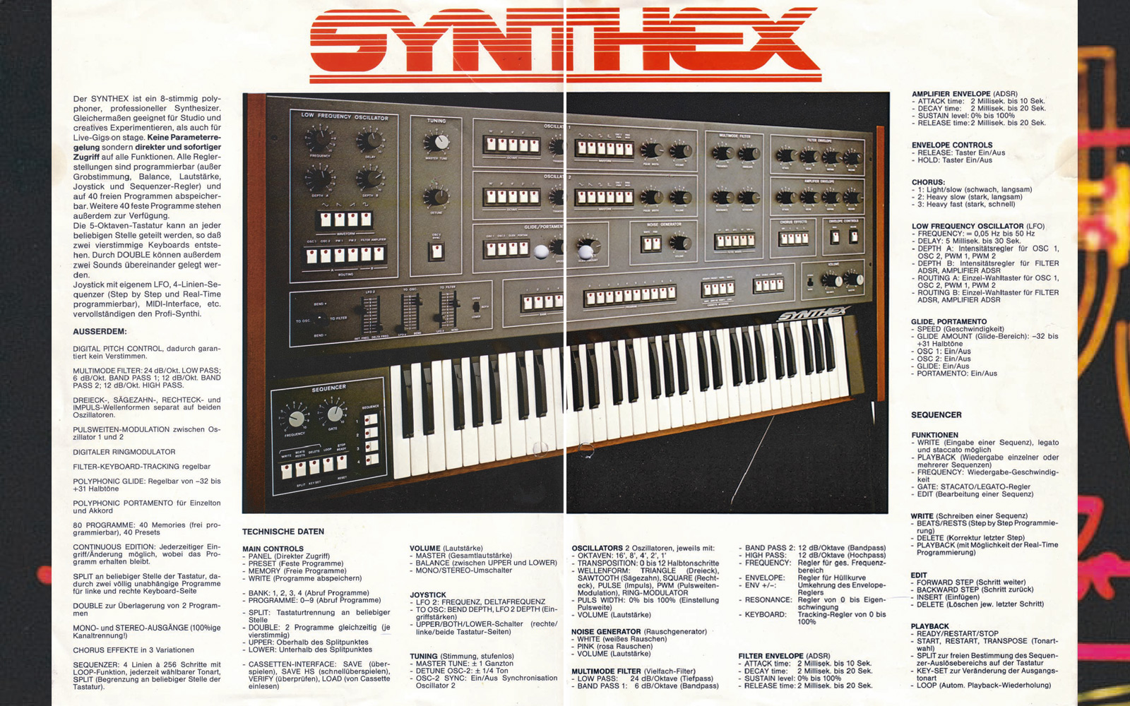 Elka Synthex Synthesizer