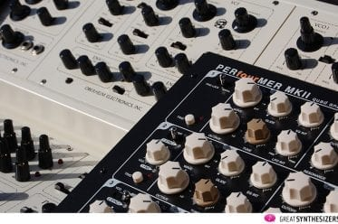 Oberheim Four Voice trifft auf Vermona Quad Analog Synthesizer.