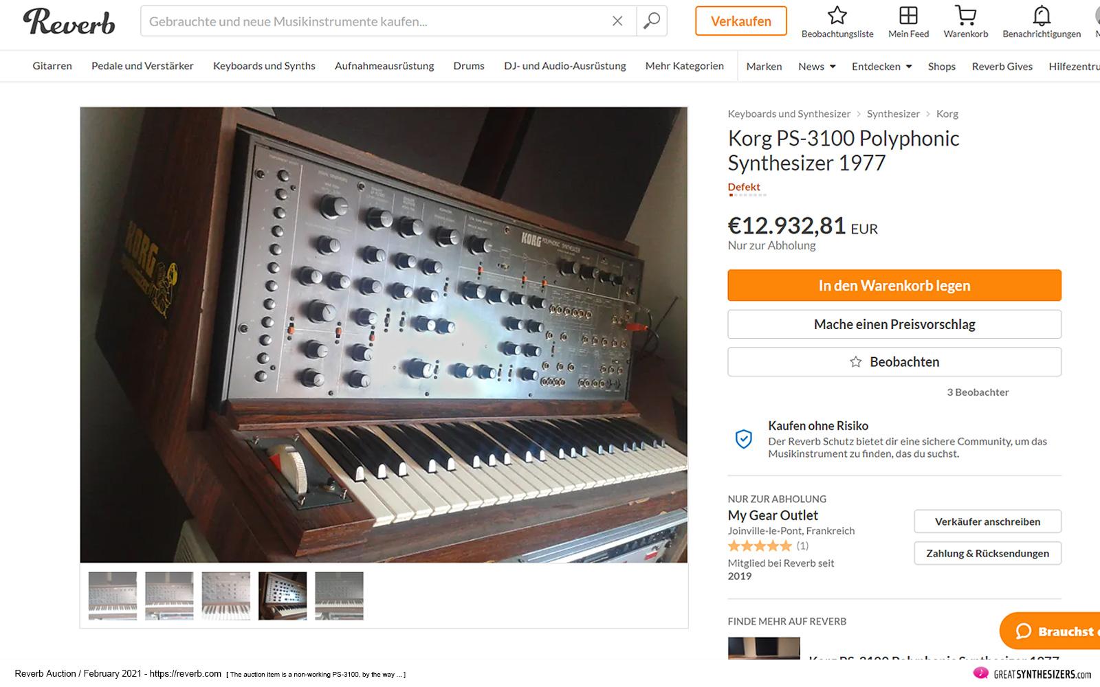 Korg PS-3100 Synthesizer
