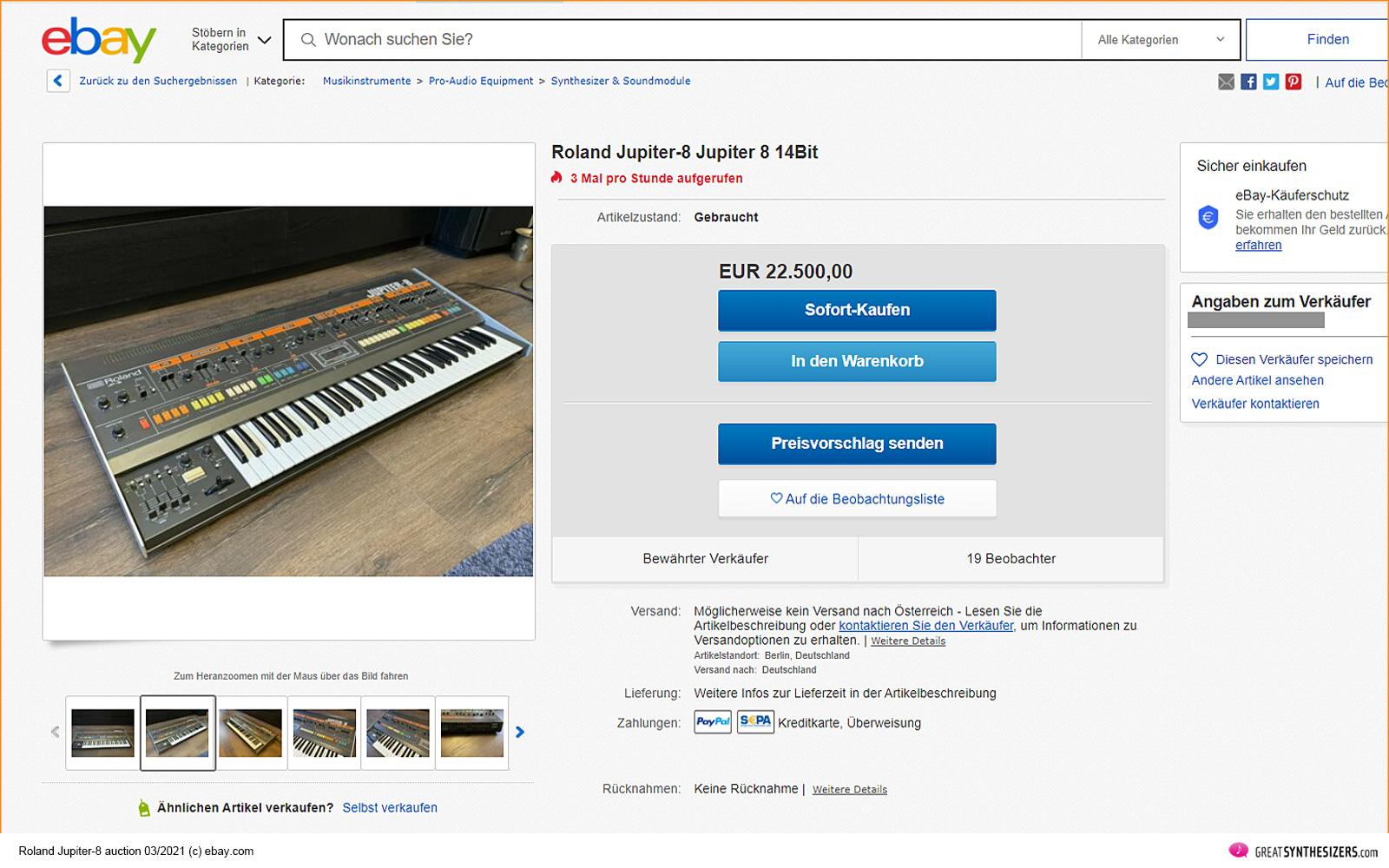 Roland Jupiter-8 Synthesizer