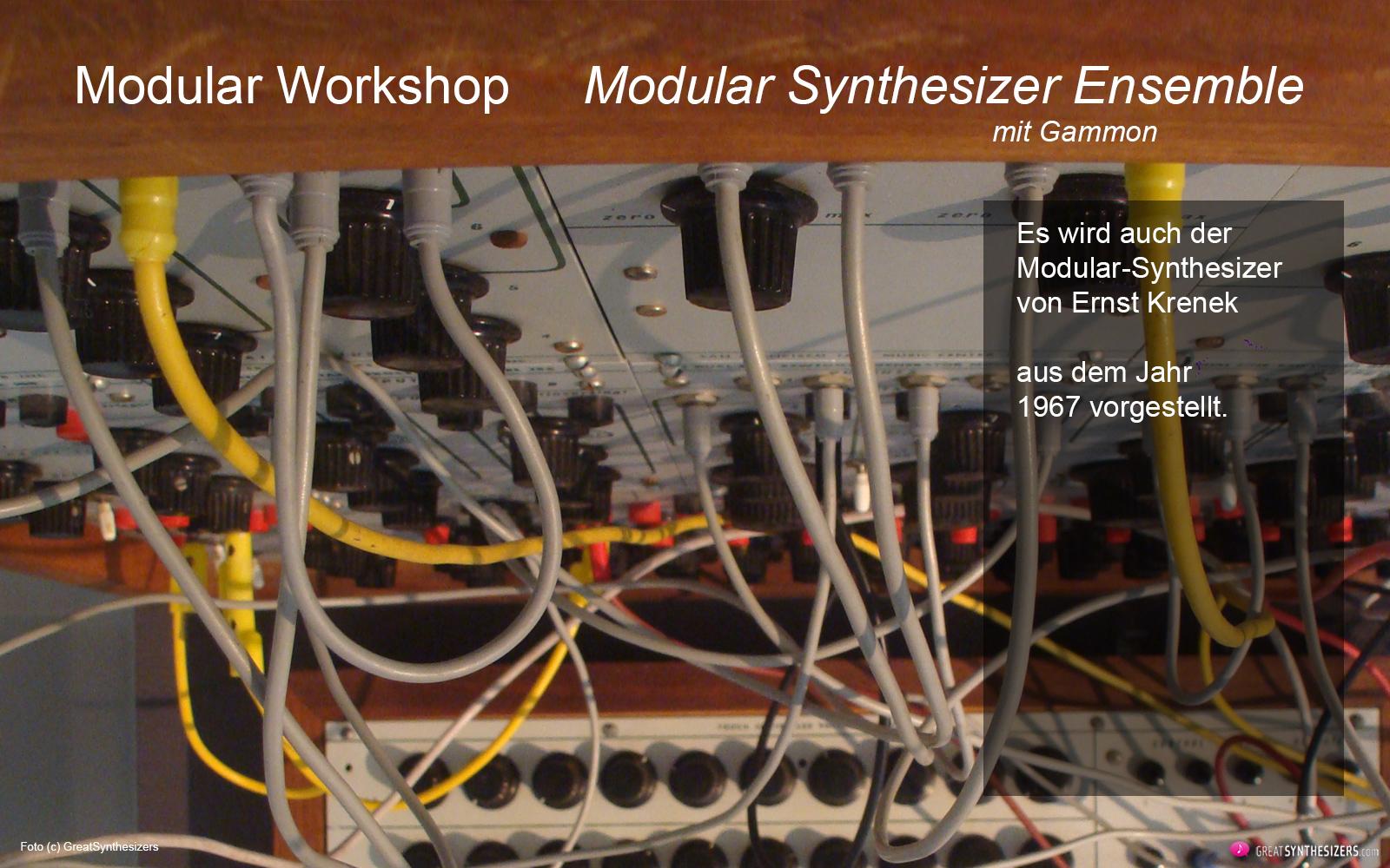 two modular workshops at the ernst krenek forum greatsynthesizers. Black Bedroom Furniture Sets. Home Design Ideas