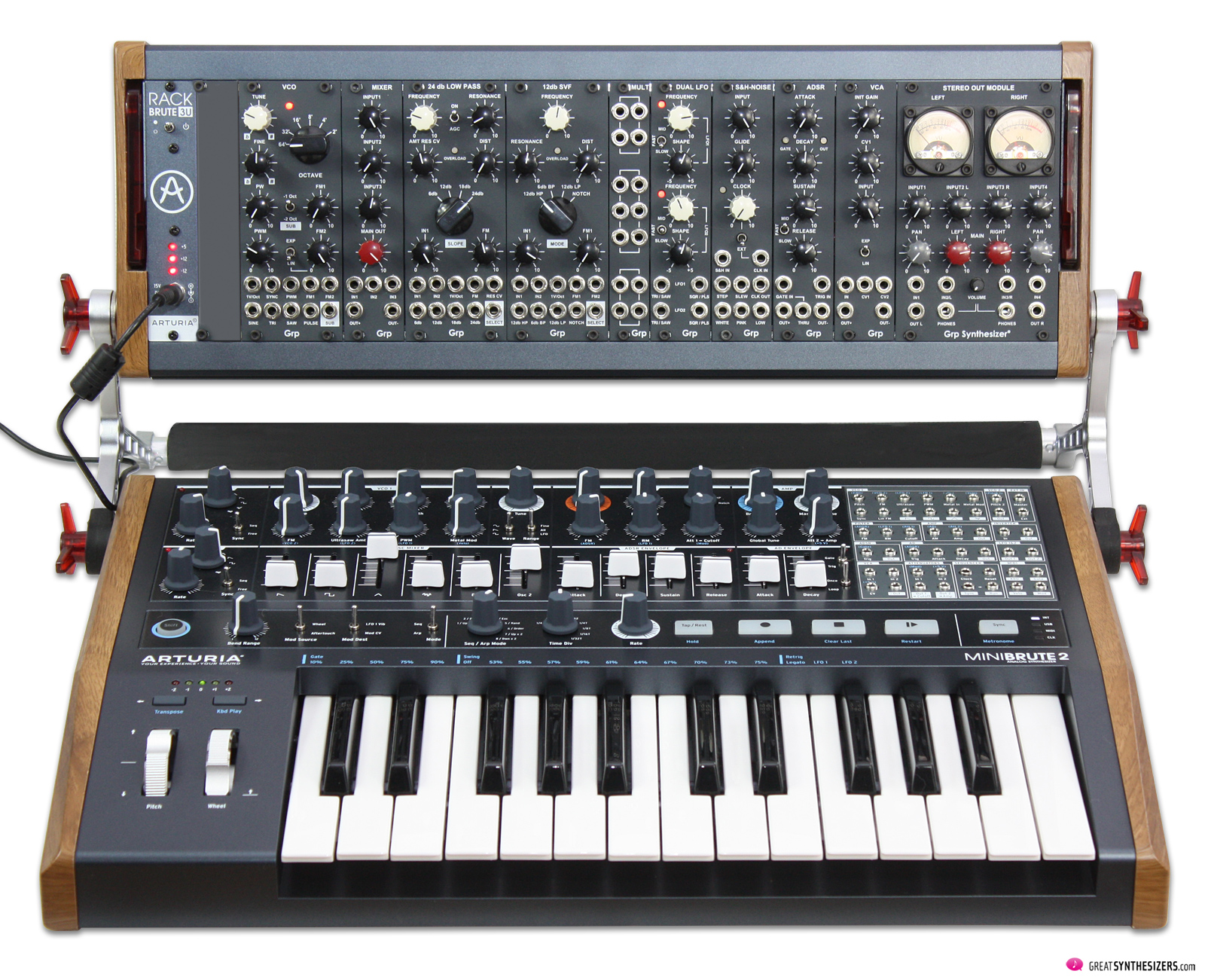 GRP Eurorack Synthesizer / Arturia MiniBrute 2
