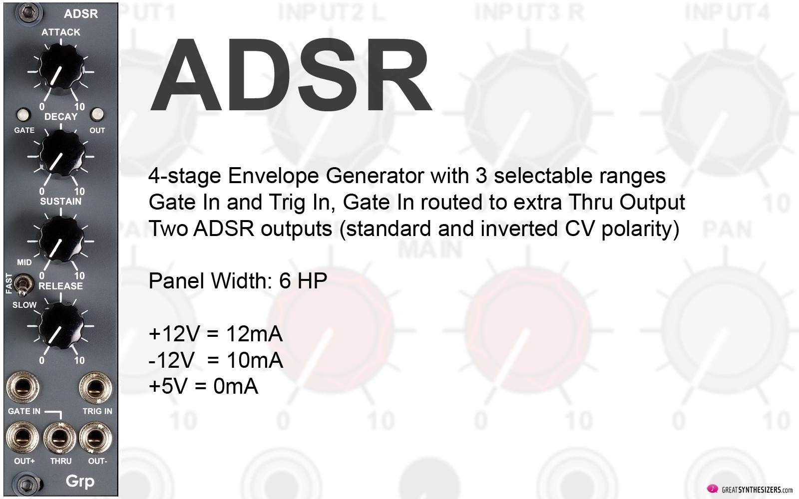 GRP Eurorack Synthesizer Modules - ADSR