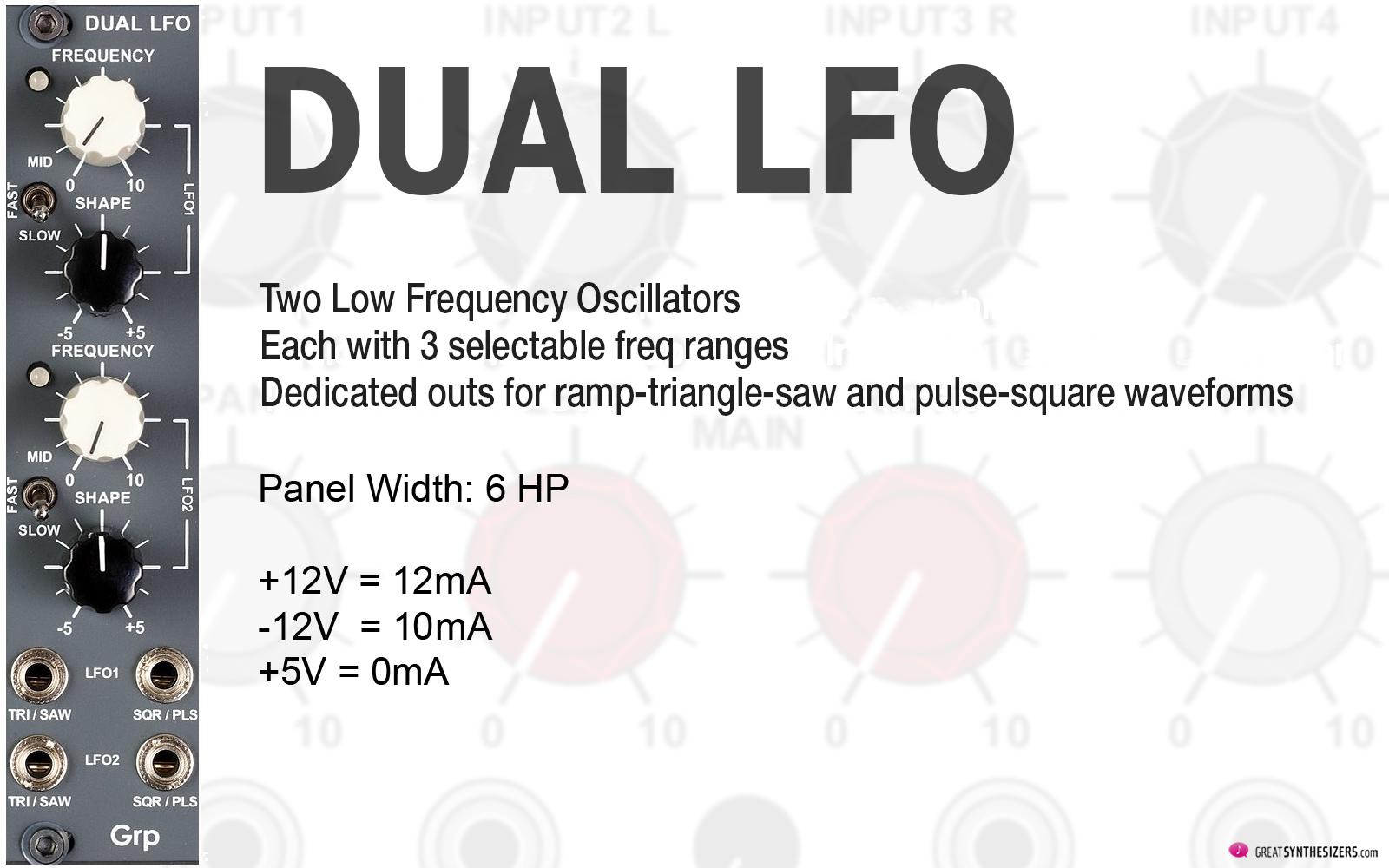 GRP Eurorack Synthesizer Modules - LFO