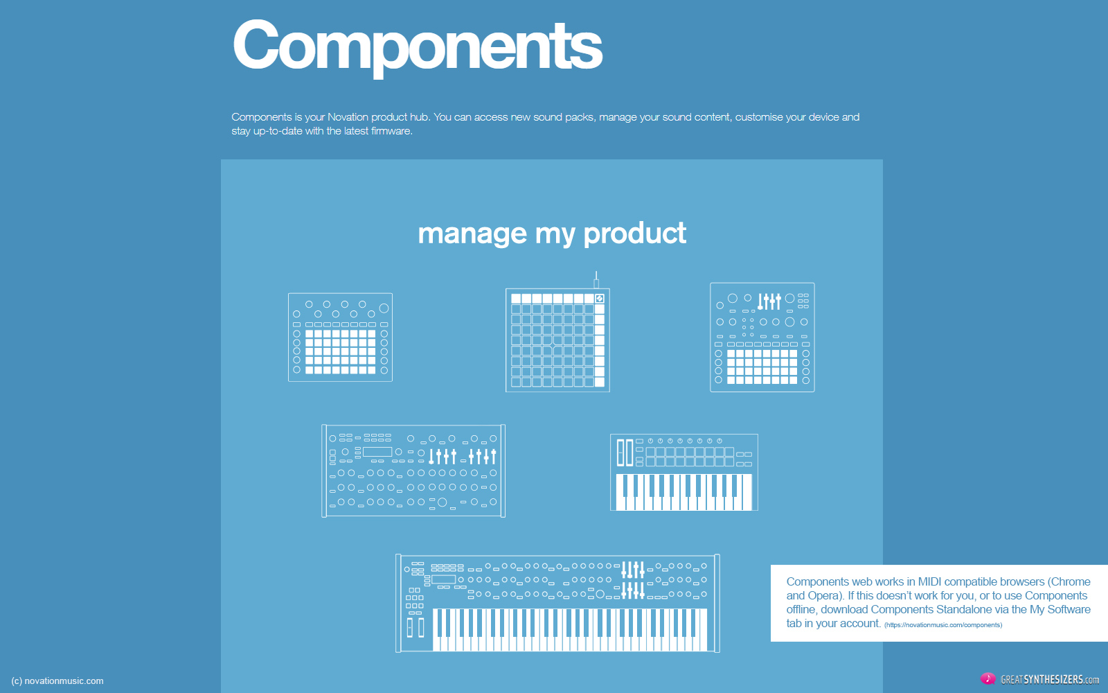Novation Summit Synthesizer - Components Software