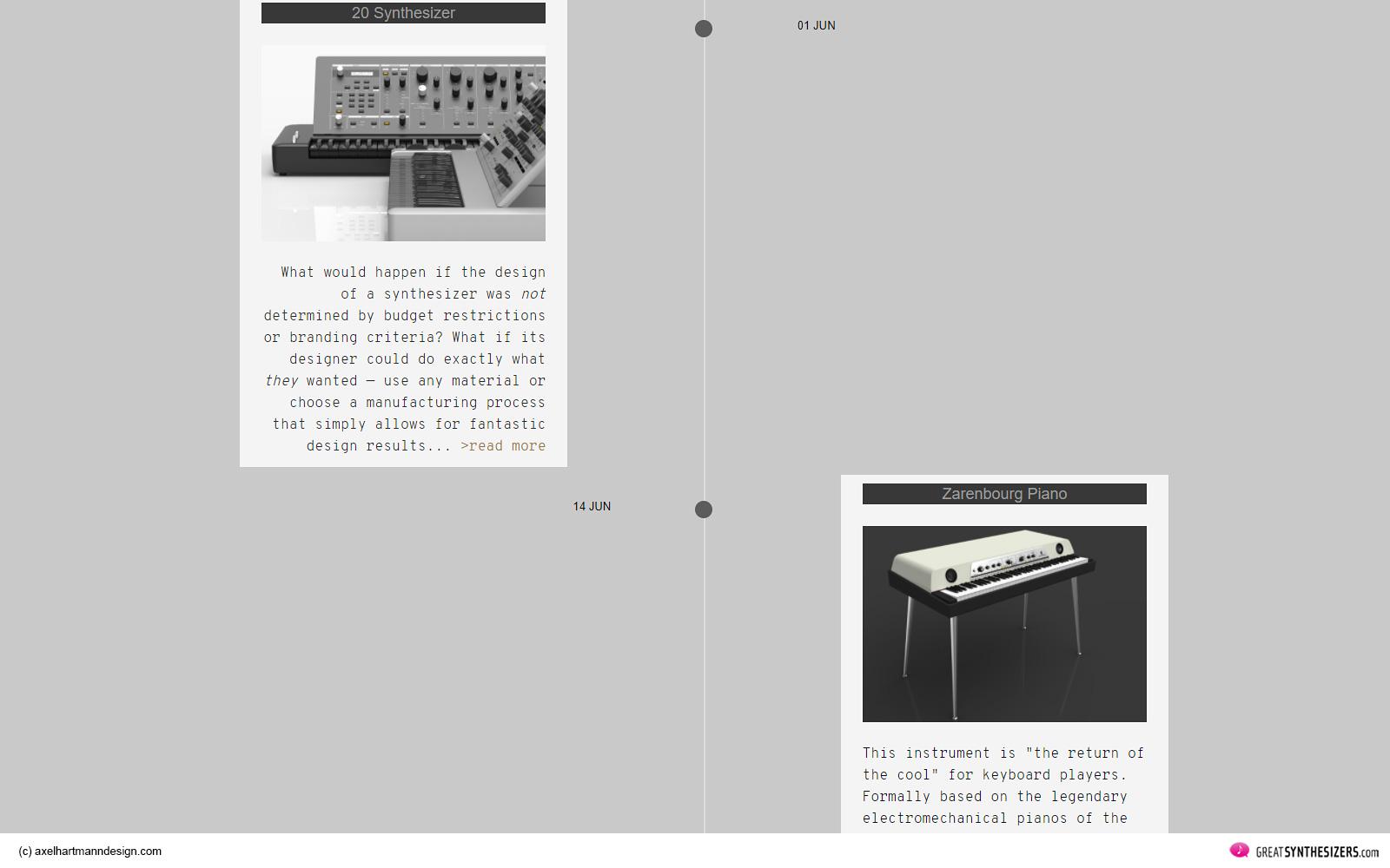Axel Hartmann Design Website - Synthesizer Design