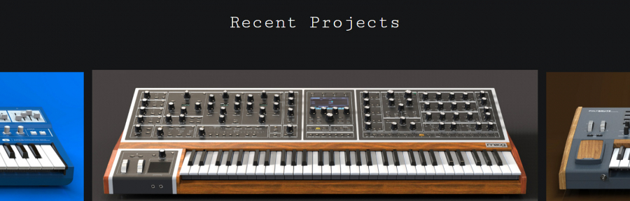 Axel Hartmann Design Website - Synthesizer Design