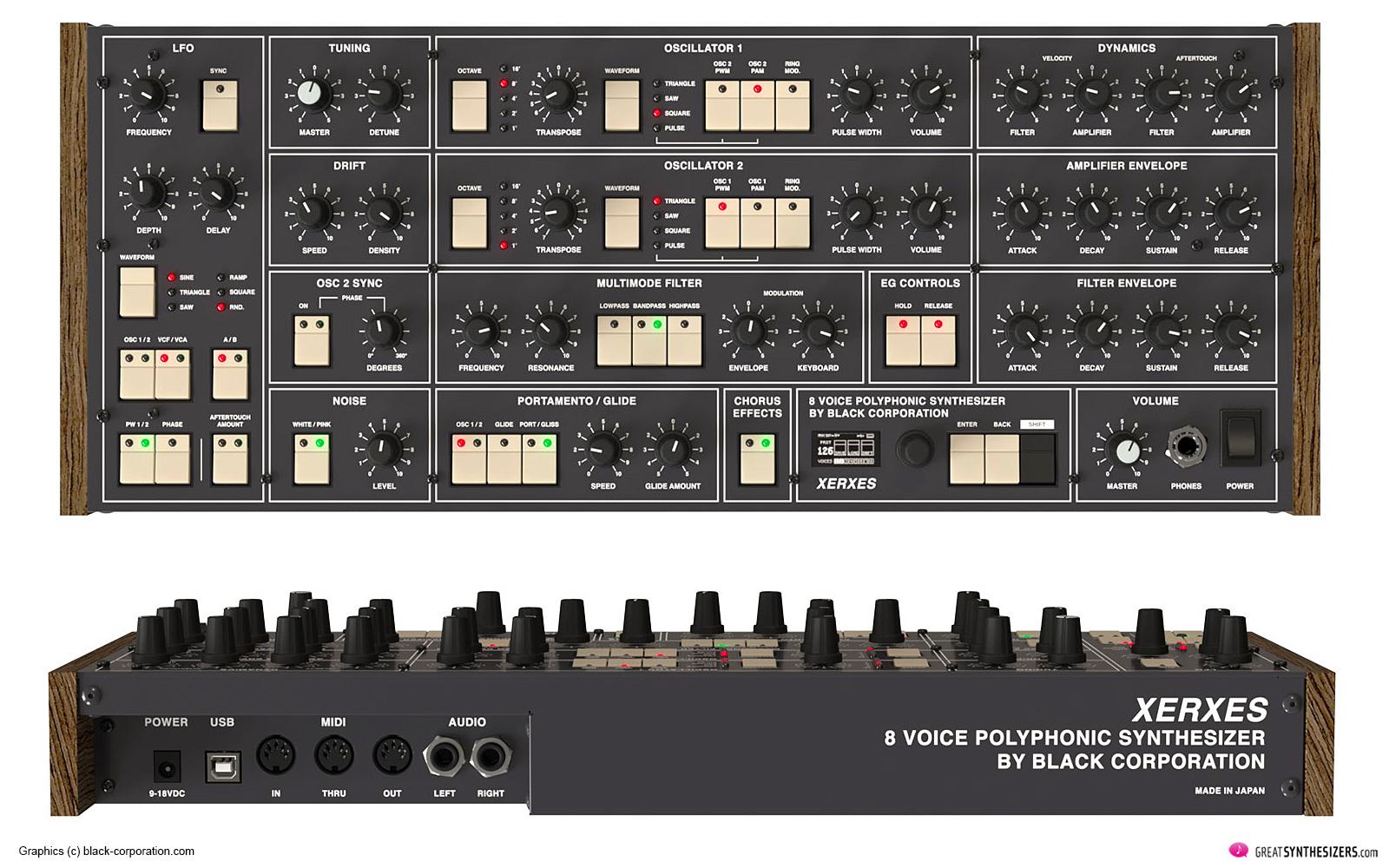Black Corporation Xerxes - Elka Synthex Klon