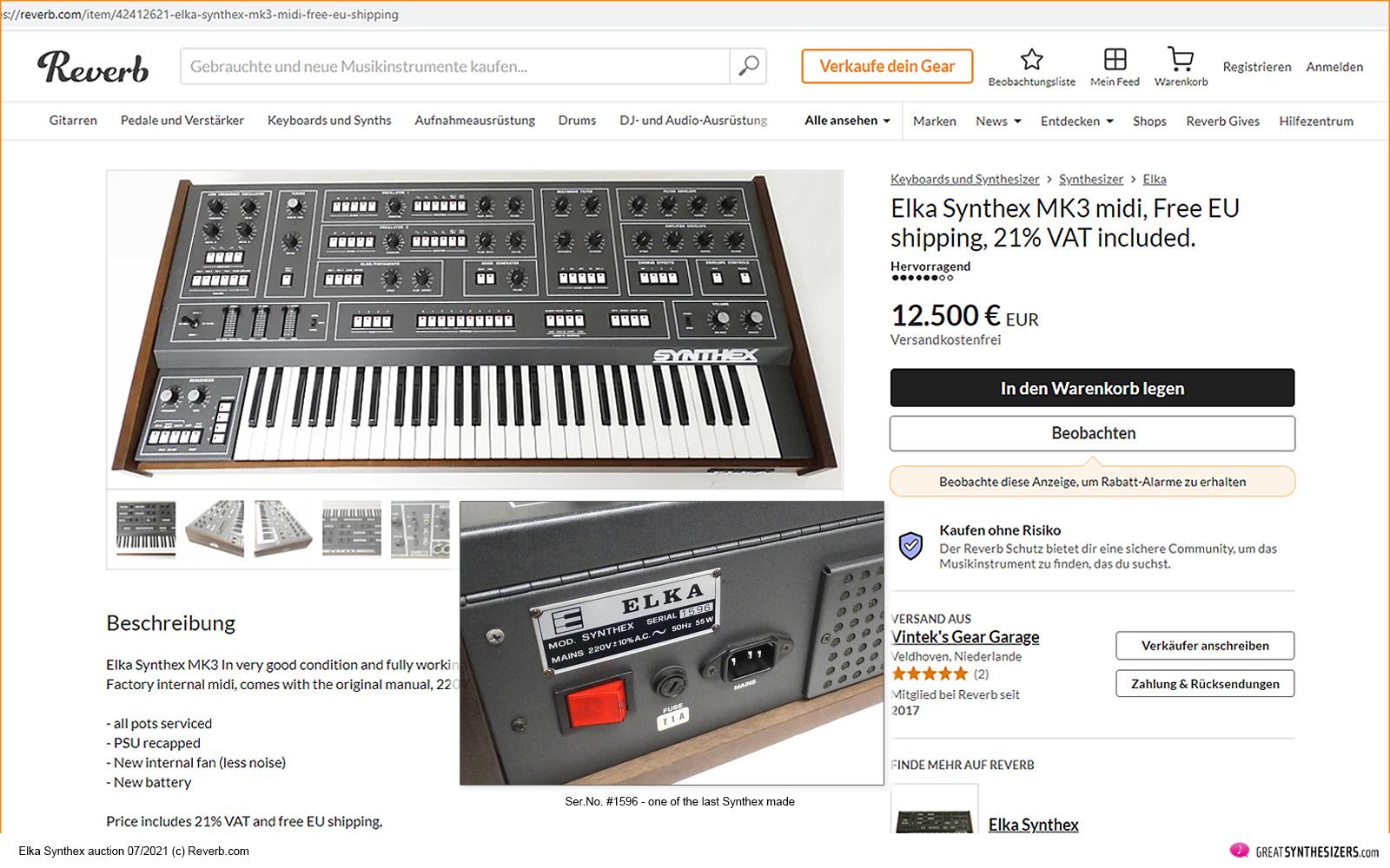 Auffallend ist, dass es seit 2020 einen deutlichen Schub gegeben hat - die Preise für Vintage-Synthesizer beginnen massiv zu steigen.